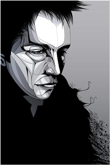 384x575 Featuring 25 Inspiring Vector Portraits