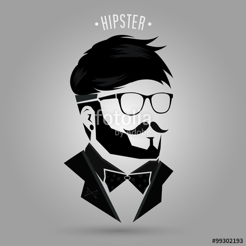 500x500 Hipster Hair Style 04 Stock Image And Royalty Free Vector Files