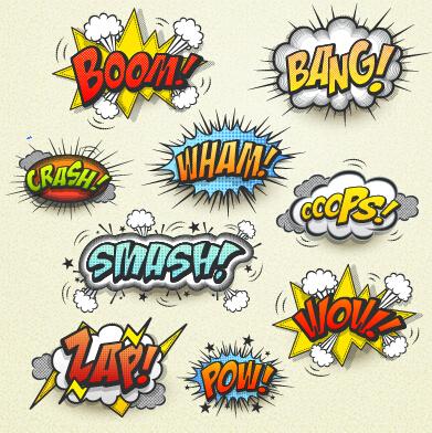 391x392 Speech Bubbles Cartoon Explosion Styles Vector Set 12 Free Download