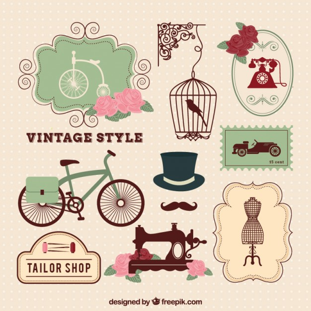 626x626 Vintage Style Elements Vector Free Download