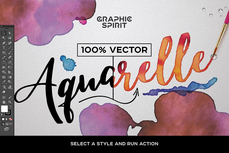 750x500 Watercolor Vector Styles For Illustrator Graphics And Fonts