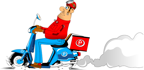 500x245 Best Pizza Delivery Cartoon Styles Vector 06 Free Download