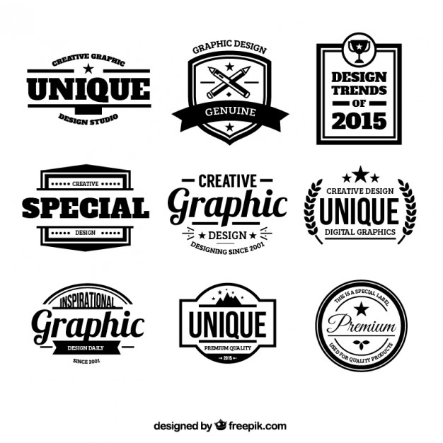 626x626 Design Badges In Retro Style Vector Free Download
