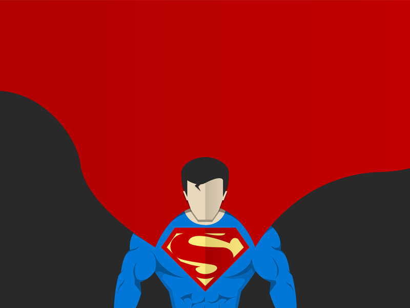 800x600 Superman Vector Art By Sameed Khan