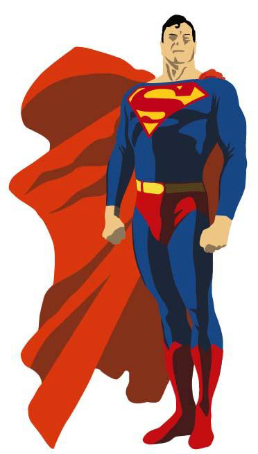 372x655 Superman Vector Free Download