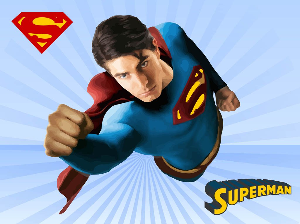 1024x765 Superman Vector Vector Art Amp Graphics