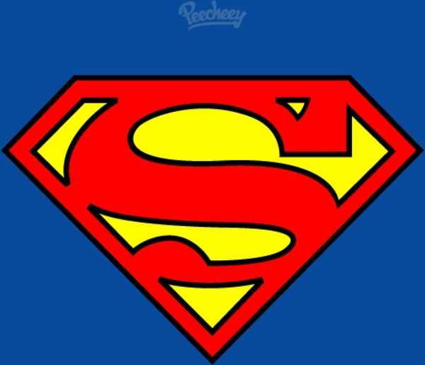 600x515 Superman Flat Logo Free Vector In Adobe Illustrator Ai ( .ai
