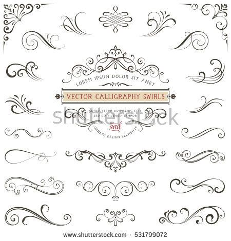 450x470 Calligraphy Scroll Designs Calligraphy Swirls Swashes Ornate