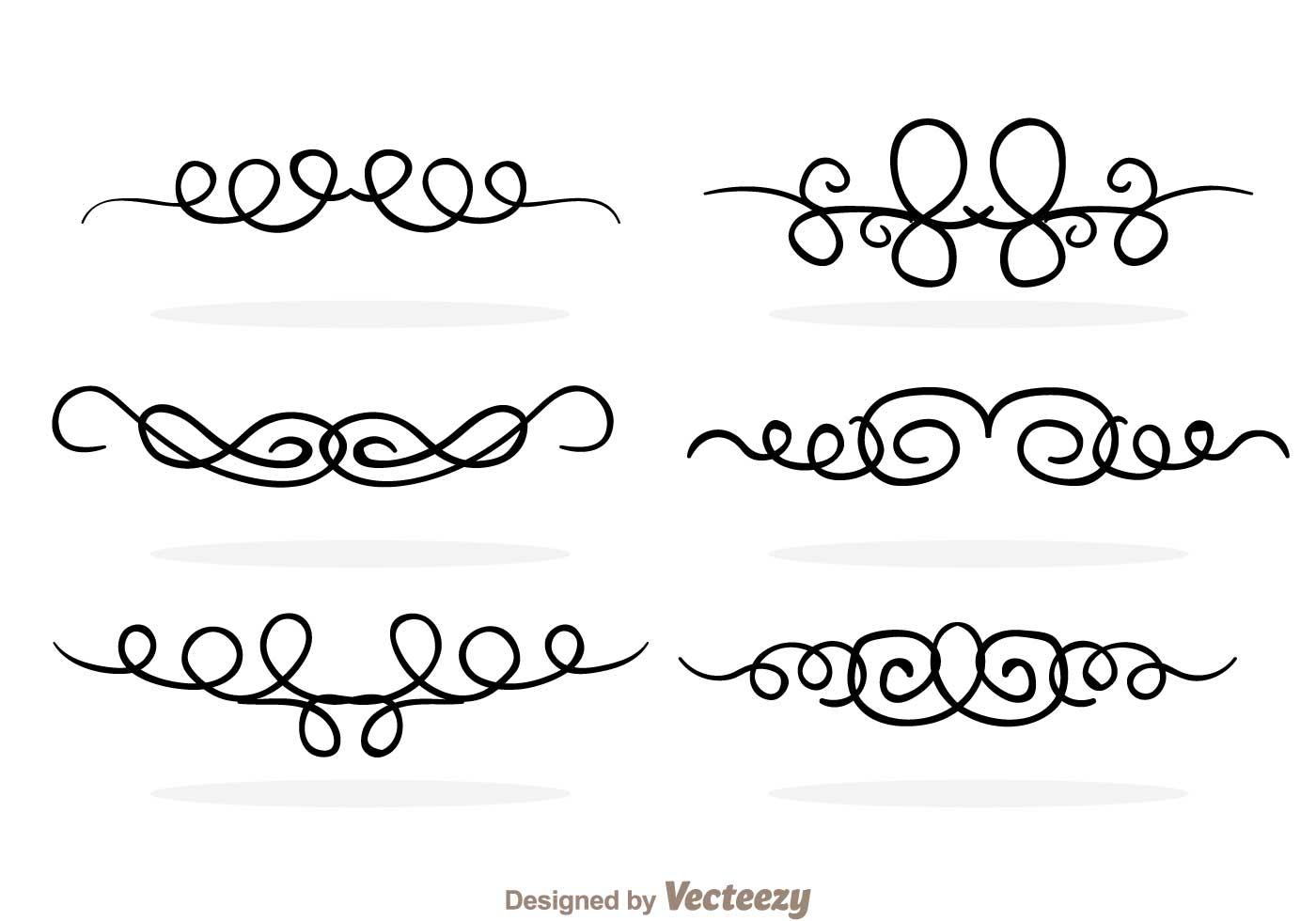 1400x980 Swirly Lines Free Vector Art