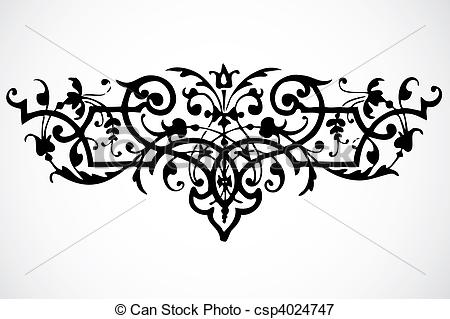 450x319 Vector Swirl Ornament. Swirly Vector Ornament. Easy To Edit.