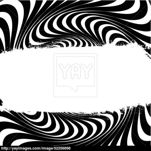 512x512 Black And White Swirl Lines With Grunge Label. Vector. Vector