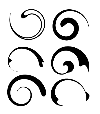 Vector Swirls Illustrator