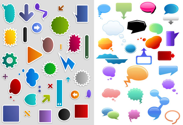 600x410 Q Version Of The Dialogue Bubble Symbol Vector Material Download