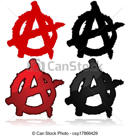 450x470 Anarchy Symbol. Symbol Of The Anarchist Movement, A Capital A On