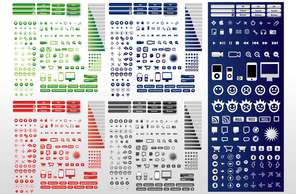 600x394 Computer Symbols Free Vector In Adobe Illustrator Ai ( .ai