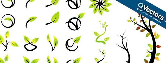 676x259 Ecology Symbols Icons Set Free Vectors Graphics Adobe Illustrator