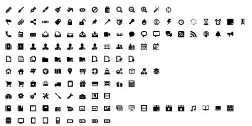 500x250 23 Glyph, Symbols Amp Simple Icon Sets Favbulous