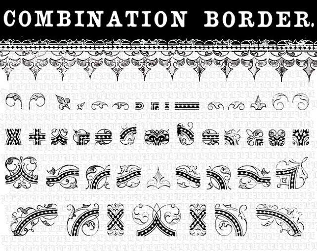 642x510 Vector Illustrator Eps Symbols Library Victorian Border Etsy