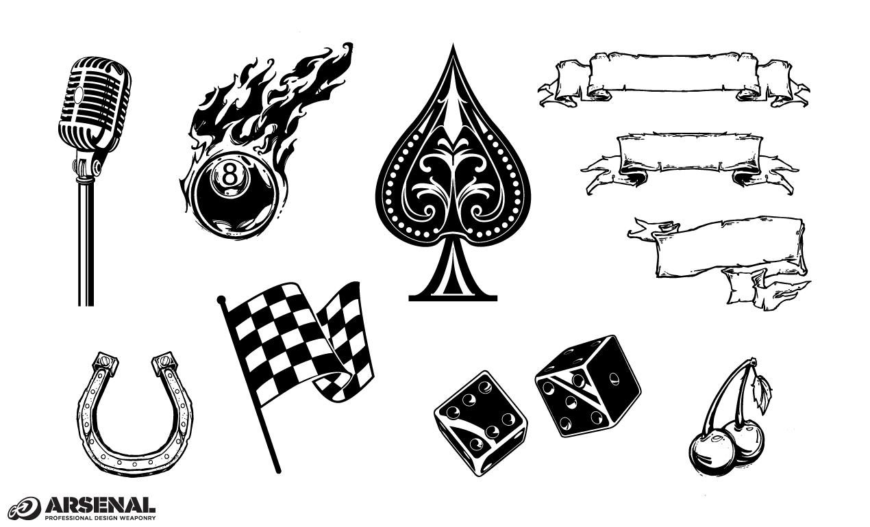 1270x770 Adobe Illustrator Vintage Symbols Vector Set 22