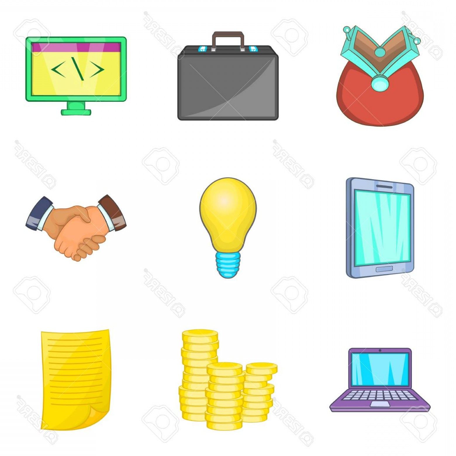 1560x1560 Photostock Vector Tab Icons Set Cartoon Set Of Tab Vector Icons