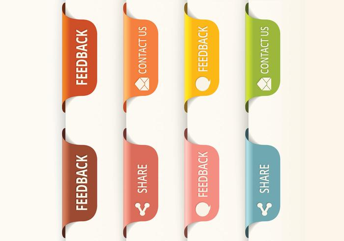 700x490 Vertical Feedback Tab Button Vectors