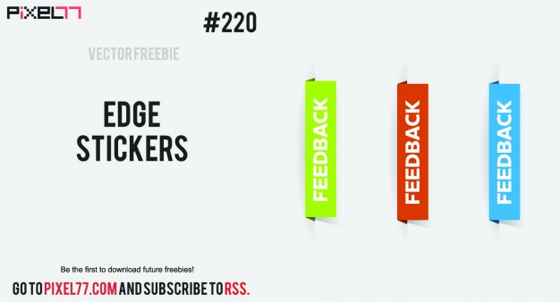 626x338 Feedback Tabs Set Vector Free Download