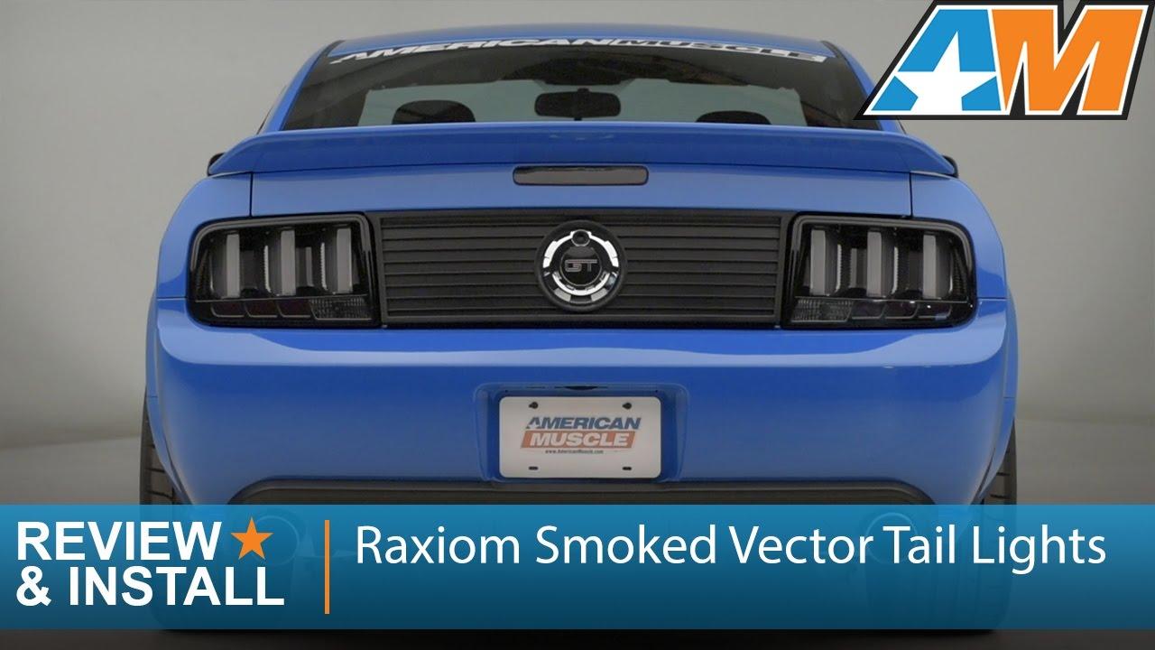 1280x720 2005 2009 Mustang Raxiom Smoked Vector Tail Lights