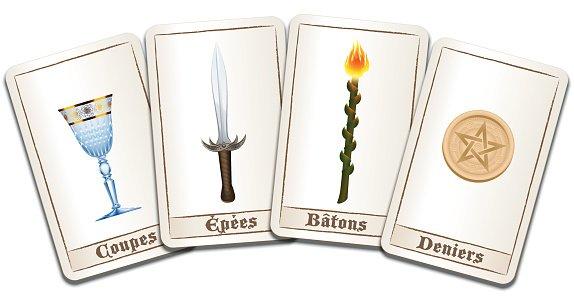 574x300 Tarot Cards French Names Stock Vectors