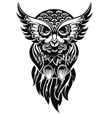 380x400 Owl Vector Tattoo By Galina On Graphic Design