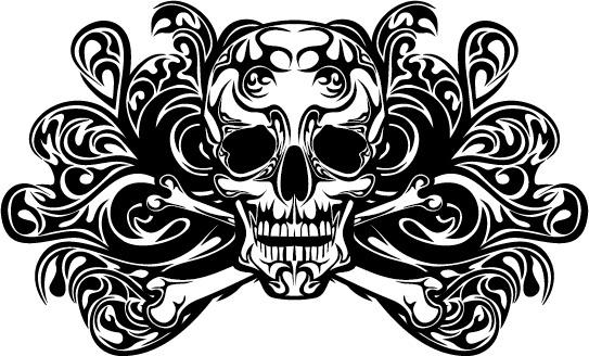 543x328 Skull Tattoo Vector Free Free Vector Download (1,215 Free Vector