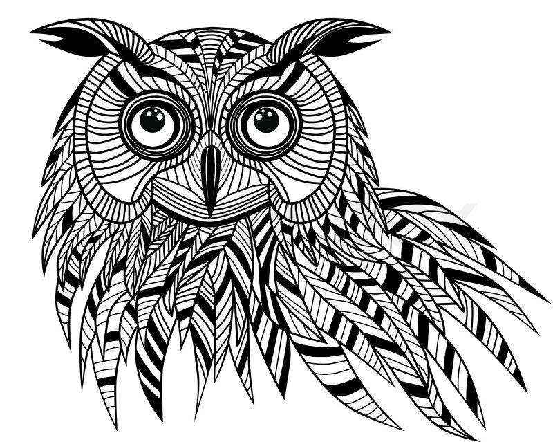 800x639 Owl Bird Head As Halloween Symbol For Mascot Or Emblem Design