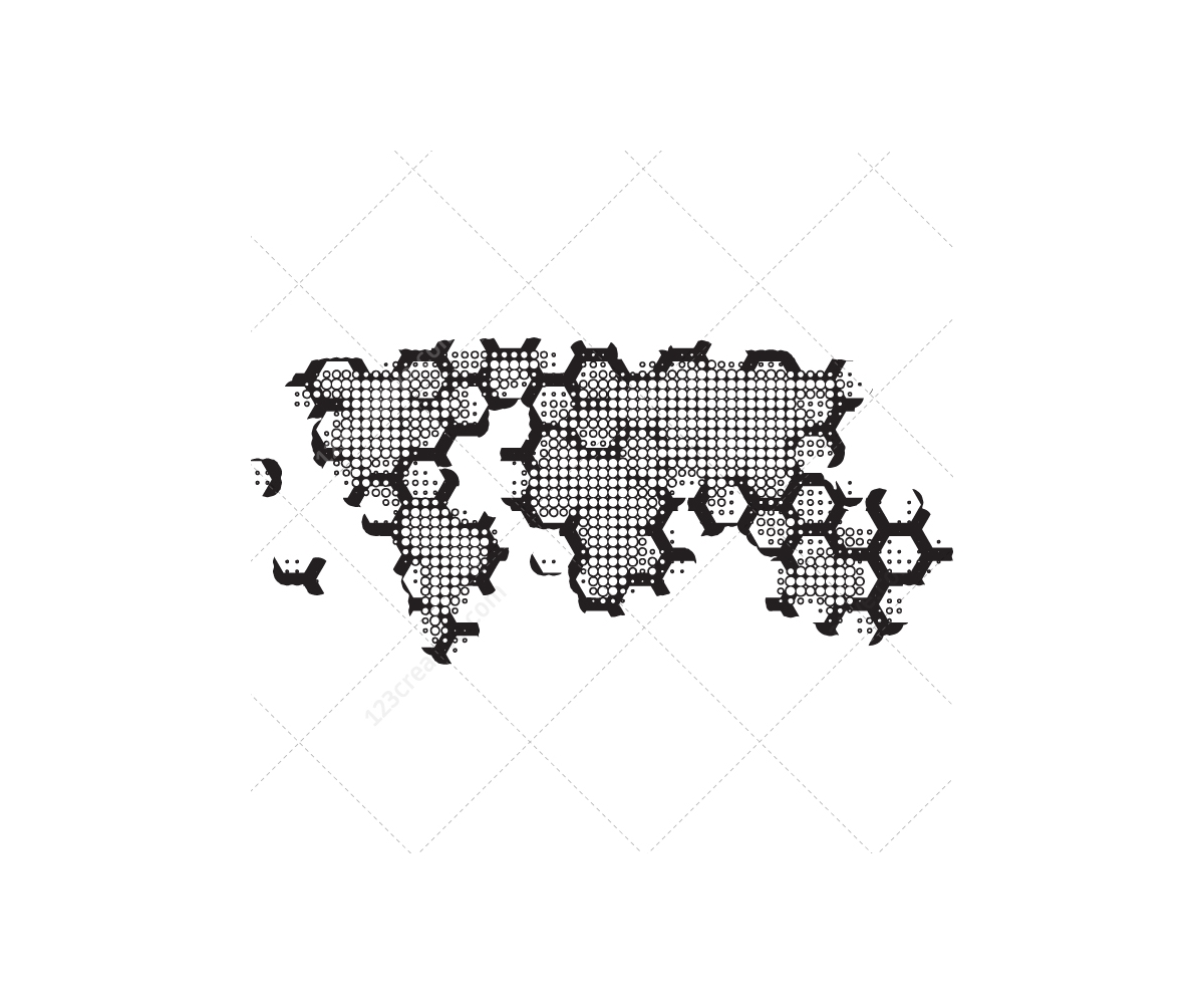 1200x1000 Hi Tech World Map Vector Pack Abstract World Maps For Graphic