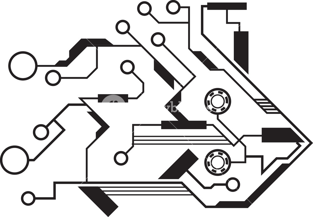 1000x694 Tech Vector Element Royalty Free Stock Image