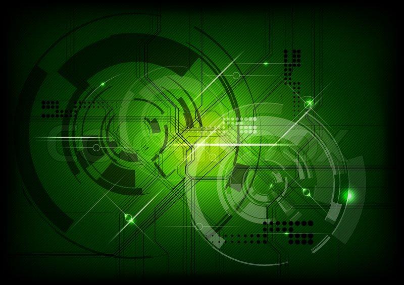 800x565 Vector Tech Background In Green Stock Vector Colourbox