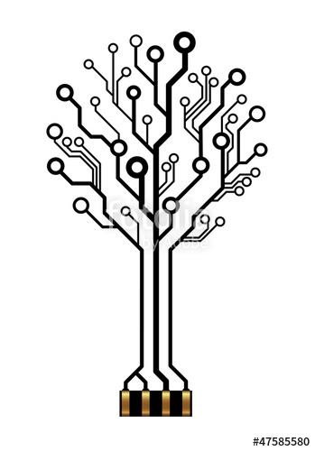 349x500 Vector Technology Tree For Logo Or Icon Stock Image And Royalty