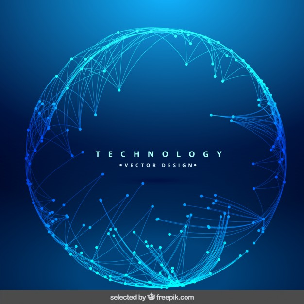 626x626 Technology Background With Circular Mesh Vector Free Download