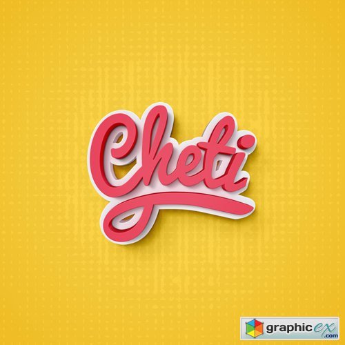 500x500 Cheti Psd Text Effect Free Download Vector Stock Image Photoshop