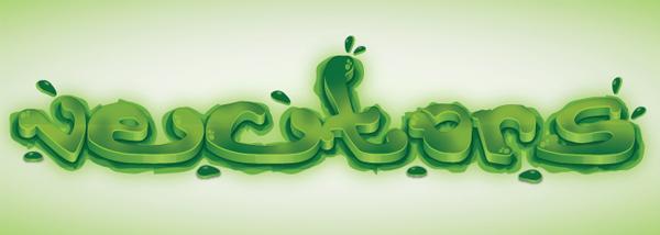 600x214 Create A Green Viscous Text Effect