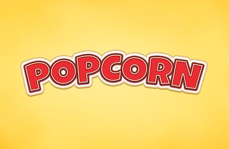 738x480 Free Popcorn Text Effect Psd Files, Vectors Amp Graphics