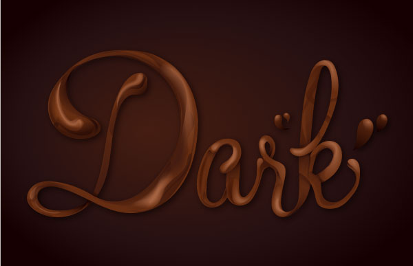 600x387 How Sweet! Chocolate Text Vector Effect Tutorial