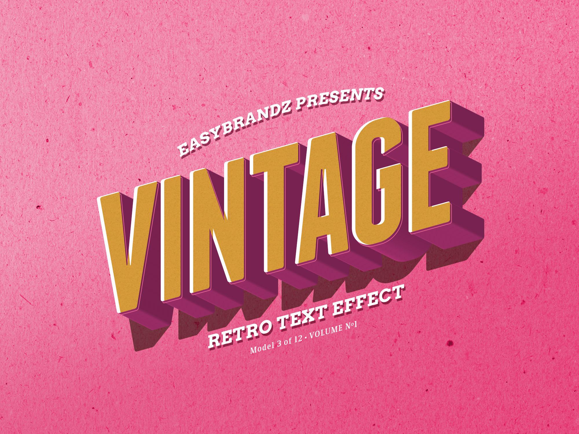 2000x1500 Retro Text Effects Vol.01 On Behance