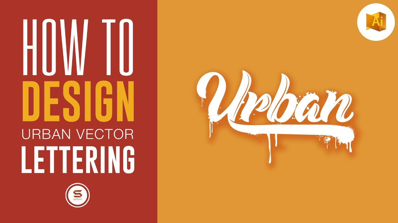 1280x720 Vector Urban Lettering Text Effect Tutorial
