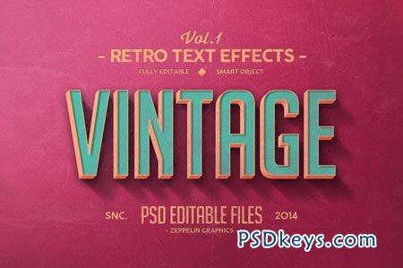 450x299 Vintage Text Effects Vol.1 57961 Free Download Photoshop Vector