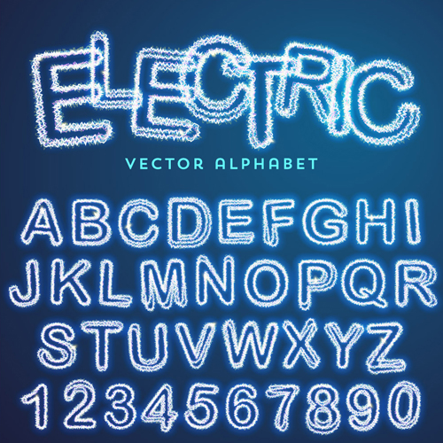 500x500 Lightning Text Effect Vector 02 Free Download