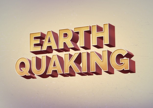 626x443 Retro Text Effect Earth Quaking Psd Psd File Free Download