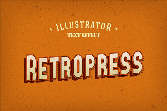 580x386 Retropress Illustrator Text Effects Free Download Freebies Psd