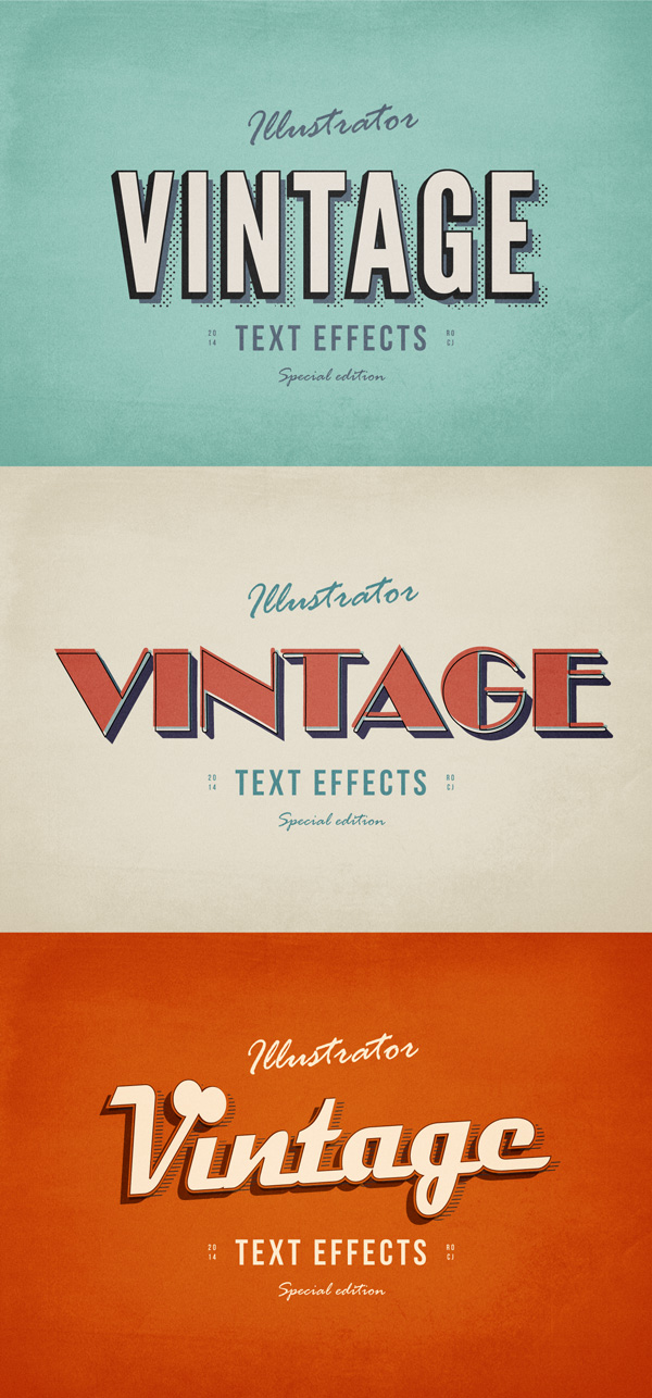 600x1286 3 Illustrator Vintage Text Effects For Free Download
