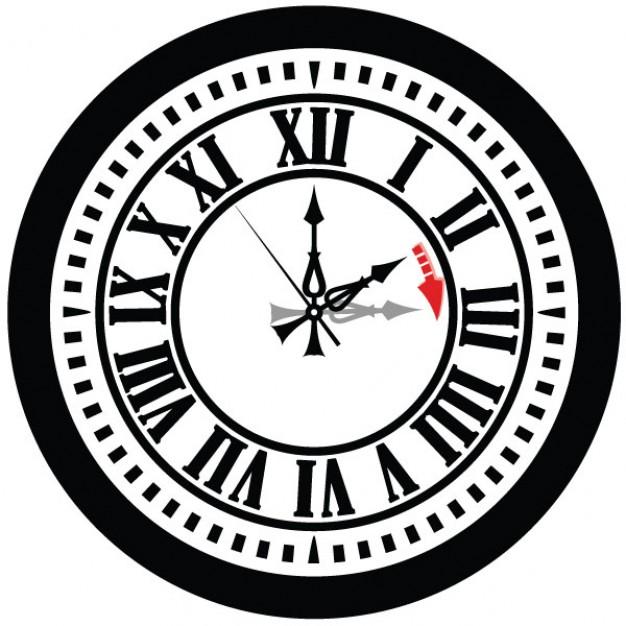 626x626 Retro Clock Time Vector Vector Free Download