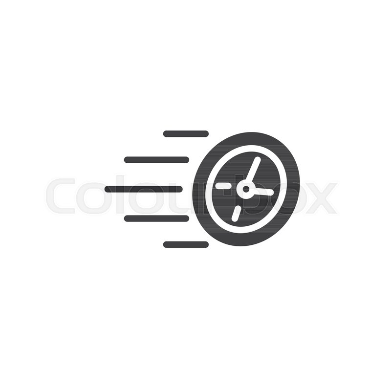800x800 Speed Time Icon Vector, Filled Flat Sign, Solid Pictogram Isolated