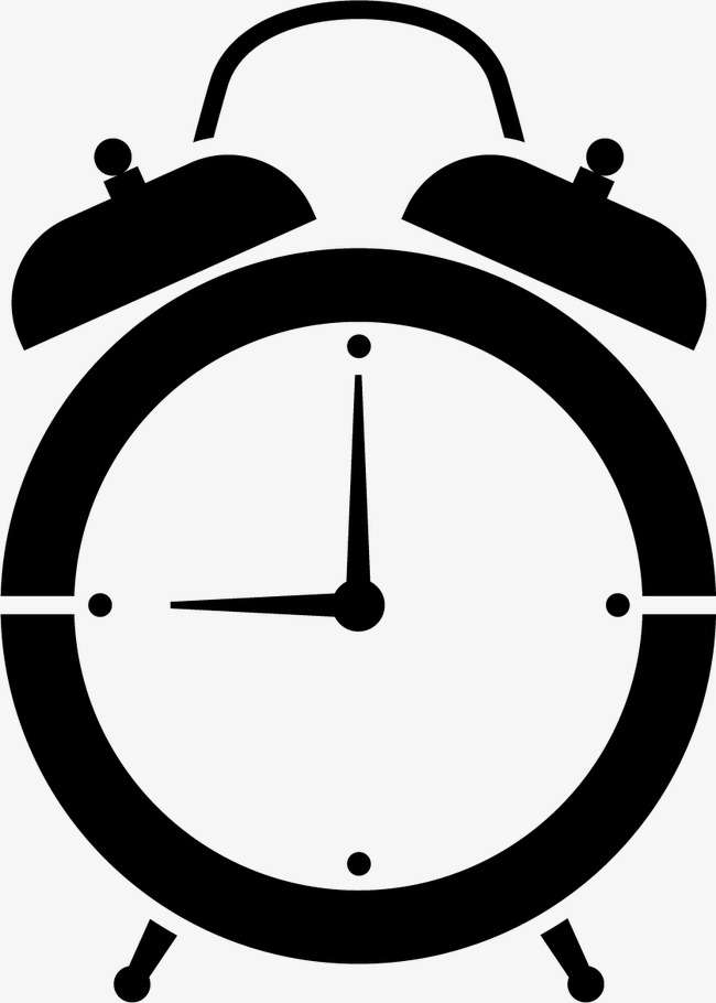 650x910 Alarm Clock Silhouette, Alarm Clock, Time, Watch Png And Vector